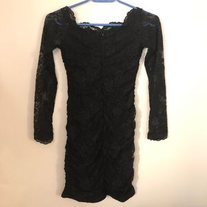 H&M Black Lace Bodycon Dress